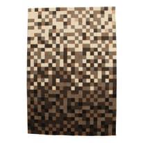 Tappeto Malmoe square beige, nero 160 x 230 cm