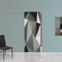 Porta da interno scorrevole Carpet 3 88 x H 220 cm sx