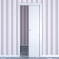 Porta da interno scorrevole Dwarf white bianco 80 x H 210 cm reversibile
