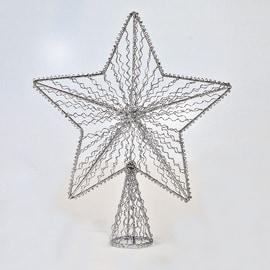 Puntale stella 5 punte colori assortiti 25 x 30 x 8 cm