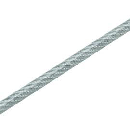 Cavo in acciaio zincato rivestito in PVC Ø 4 mm x 50 m