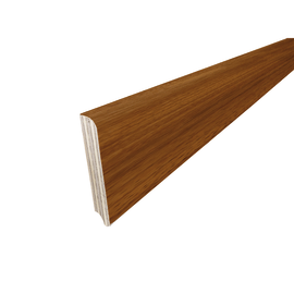 Battiscopa impiallacciato verniciato iroko 13 x 82 x 2400 mm