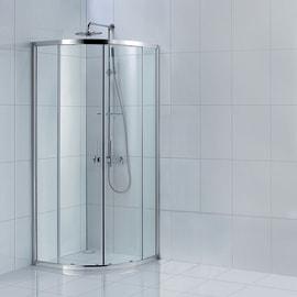 Box doccia scorrevole Remix2 77.5-79 x 77,5-79, H 185 cm cristallo 5 mm trasparente/silver