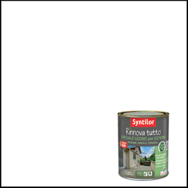 Vernice per esterno ad acqua Syntilor Rinnova Tutto bianco 2,5 L