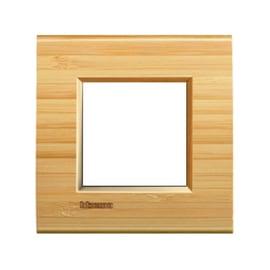 Placca 2 moduli BTicino Livinglight bambù