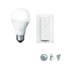 Lampadina smart LED Philips Hue E27 =60W goccia luce calda
