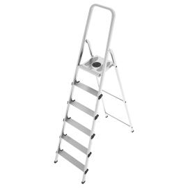 Scala domestica in acciaio-allumino 6 gradini SCALA 6 GRADINI ACCIAIO/ALLUMINIO EN131