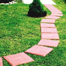 Piastrella PVC effetto pietra 40 x 40  cm x 32  mm terracotta