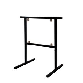 Coppia cavalletti acciaio Modulia H 78 x P 75 x L  50 cm nero