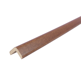 Paraspigolo legno verniciato noce tanganika 21 x 21 x 3000 mm