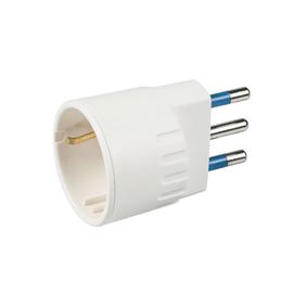 Adattatore PP0432XLM semplice 16A, Elix bianco