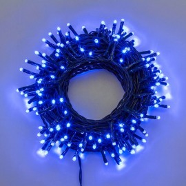 Catena luminosa 180 minilucciole Led blu 17,1 m