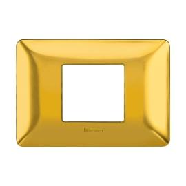 Placca 2 moduli BTicino Matix oro satinato