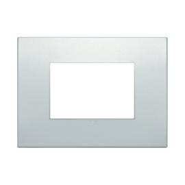 Placca 3 moduli Vimar Arké perla matt