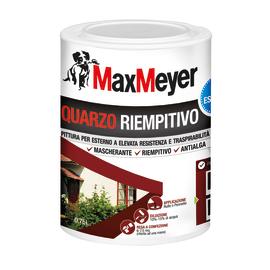 Pittura al quarzo per esterno antialga ad alto riempiento Max Meyer bianco 0,75 L