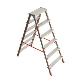 Scala domestica a doppia salita in alluminio 6 gradini Facal Filo