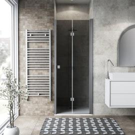 Porta doccia Neo 82-86, H 201,7 cm vetro temperato 6 mm fumè/silver