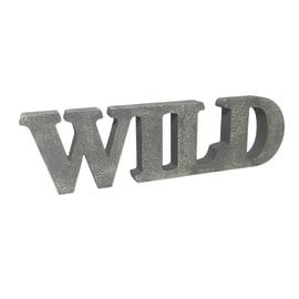 Scritta Wild cemento 40x12