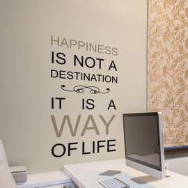 Wallsticker Words Up L Happiness is a way