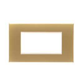 Placca 4 moduli BTicino Livinglight Air oro satinato