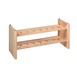 Scaffale legno portabottiglie 16 posti 2 ripiani L 68,8 x P 25 x H 30 cm