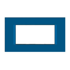 Placca 4 moduli FEB Flat blu n° 1