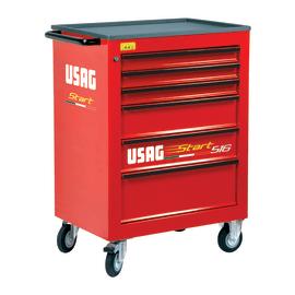 Carrello officina Usag 516 con ruote, 6 cassetti estraibili, L74,8 x P51,5 x H97 cm