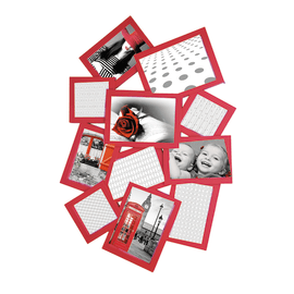 Portafoto multiplo Storty rosso 11 foto