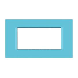 Placca 4 moduli FEB Flat blu n°6