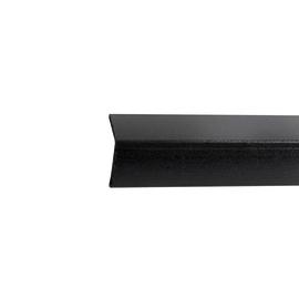 Paraspigolo PVC liscio nero 3,5 x 30 x 3000 mm