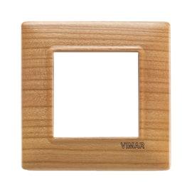 Placca 2 moduli Vimar Plana ciliegio