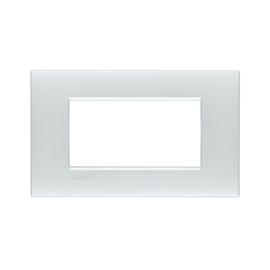 Placca 4 moduli BTicino Livinglight Air bianco perla