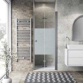 Porta doccia Neo 92-96, H 201,7 cm vetro temperato 6 mm serigrafato/silver