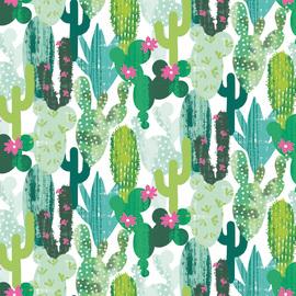 Tessuto al taglio Cactus verde 160 cm
