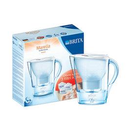 Kit caraffa + 3 filtri Marella White