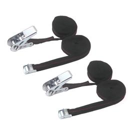 4 cinghie di ancoraggio con cricchetto 2,5 m 25 mm completa di fibbia