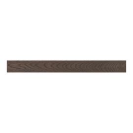 Battiscopa impiallacciato verniciato scuro 10 x 75 x 2400 mm