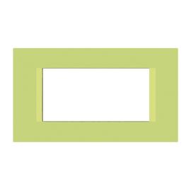Placca 4 moduli FEB Flat pistacchio n°5