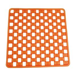 Tappeto antiscivolo doccia Mosaico arancione