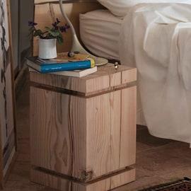 Tronco quadro legno L 30 - 35 x P 30 x H 45 cm grezzo