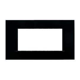 Placca 4 moduli FEB Flat nero