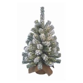 Albero di Natale artificiale Mini con luci a batteria H 60 cm
