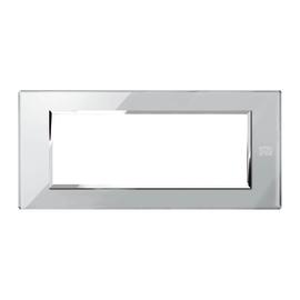 Placca 6 moduli Simon Urmet Nea Expì grigio opale