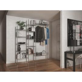Composizione ingresso Spaceo Chrome Style+ L 210 cm