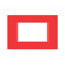 Placca 3 moduli FEB Flat rosso n°3