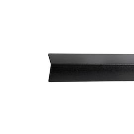 Paraspigolo PVC liscio nero 2,5 x 24 x 3000 mm