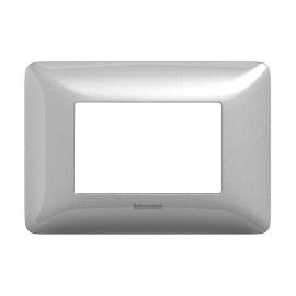 Placca 3 moduli BTicino Matix silver