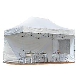 Gazebo pieghevole copertura bianca 4,5 x 3 m