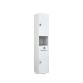 Colonna girevole Super bianco 2 ante, 1 cassetto, vano a giorno L 36,5 x H 190 x P 36,5 cm