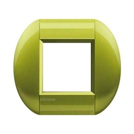 Placca 2 moduli BTicino Livinglight citron